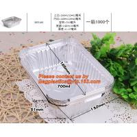 China food container aluminum foil baking tray,lubricated foil containers aluminium foil tray manufacture for lunch food packi on sale