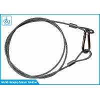 China Soft Eye Steel Wire Rope Sling Rubber Coated For Led Theatre Spotlights factory