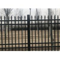 Buy cheap Interpon Coated Bronze Wire Full Weld Garrison Steel Picket Fence Industrial Security Fencing from Wholesalers