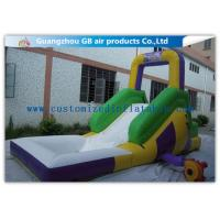 China Funny Game Small Inflatable Water Slide / Kids Inflatable Garden Water Slides factory