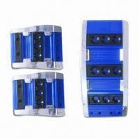 China Plastic Car Pedal Pads, Available in Blue, Red, Black, Brown and Silver Colors factory