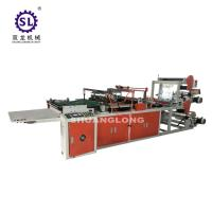 China Flower Side Sealing Bag Making machine Plastic Film Triangle Type factory