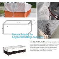 China 12Mil Open Top 30 Yard Dumpster Container Liners,21'Lx8'Wx8'H PE drawstring dumpster container liners for waste transpor on sale
