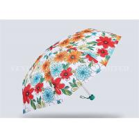 Fancy Pink 5 Fold Umbrella For Women Totes Compact Umbrella Easy Carrying
