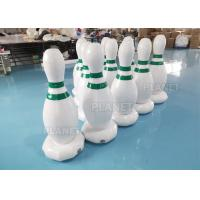 China 1.2m PVC Tarpaulins White Inflatable Human Bowling Pins For Sports Games factory