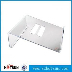 China Acrylic Notebook Holder, Lucite Laptop Desk stand, Plexiglass Notebook Riser factory