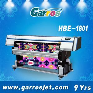 China Garros HBE1801 Large Format Digital Printing Machine Industrial Textile Inkjet Printer with DX5 Printhead on sale