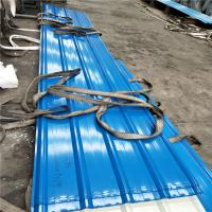 China gauge 24 blue color corrugated zinc aluminum roofing sheet 5500 x 840mm x 0.526mm factory