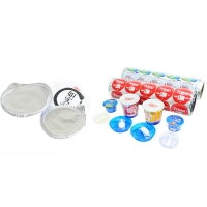 China PET AL HSL Seal Yogurt Poly Laminated Aluminium Lidding Foil factory