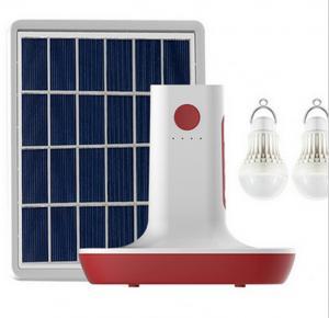 China MP3 Radio 3 LED Bulbs Light Solar Power Panel Generator Kit USB Home Charger System factory
