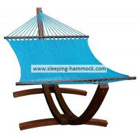 Buy cheap Coastal Tight Weave Wooden Arc  2 Person Rope Hammock With Stand Light Blue 55 X 84 Inches from Wholesalers