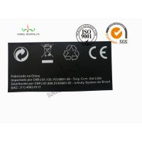Buy cheap Back Ground Custom Logo Print Sticker Labels Synthetic Paper Black Color from Wholesalers