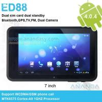 Buy cheap Build-in 3G Dual sim Android Tablets ED88 from wholesalers