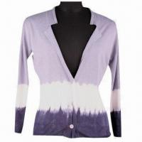 Buy cheap Women's Long-sleeved Sweater, Made of 75% Spun Silk and 25% Linen, with 16gg from wholesalers