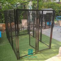 China Commercial Black Kennel Welded Wire Mesh Fence Panels Customized With 40 X 40 Mm Frame on sale