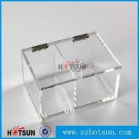 China 2016 newest clear/plexiglass customised acrylic small boxes with lid factory