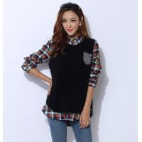 China Autumn Cashmere Sweaters / Sleeveless Knit Jacket With Front Pocket on sale