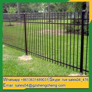 China Cape Range cast iron tubular ornamental galvanized fence for buiding outside on sale