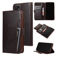 China Kickstand IPhone11 Leather Flip Phone Case With Credit Slots factory