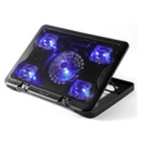 Buy cheap 5.6 laptop cooler stand 5 LED fan notebook cooling pad with speed control from Wholesalers
