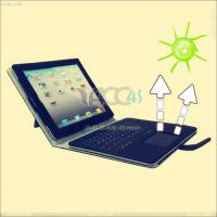 China Solar Panel Detachable Wireless Bluetooth Keyboard with Leather Case for iPad 2--iPad2case100 on sale