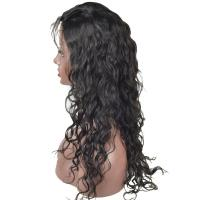 China Human Hair Wigs Lace Front Wigs Brazilian Hair Water Wave with Baby Hair 130% Density Natural Color factory