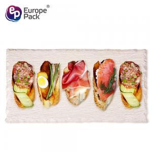 Biodegradable rectangle  tableware bamboo fiber plastic sushi tray