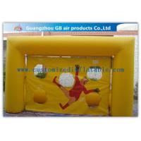China Popular Yellow Small Inflatable Soccer Game For Football Throwing Exercise factory