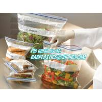 China double track custom printing freezer zipper bags, Resealable clear PE double sealed zipper bag wholesales, FDA food pack factory
