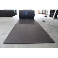 China Attractive Rubber Flooring Rolls , Playground Safety Black Rubber Mat Roll factory