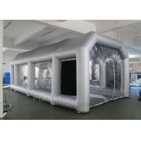 China Outdoor Inflatable Spray Booth With Two Blowers Removeable Filter factory