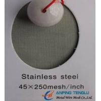 China 45×250Mesh/Inch, Plain Dutch Filter Cloth, With Anti-abrasive Features factory