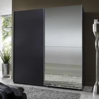 Buy cheap Elegant High Gloss Bedroom Furniture With Half Mirror Soft Sliding Door Wardrobe from Wholesalers
