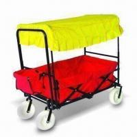 China Folded and Portable Baby Trailer, Measures 1,190 x 600 x 980mm, Made of Steel Frame factory