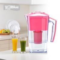 China 2.5L Slim Alkaline WellBlue Alkaline Water Filter Pitcher PH 9.5 BPA-Free on sale