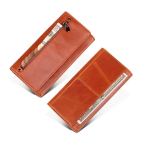 China Leather Hold Money 19.5*9.5*3CM Slim Zipper Wallet factory