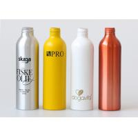 Buy cheap Empty Silver Aluminum Cosmetic Bottle With Lotion Pump 500ml Recycled from Wholesalers
