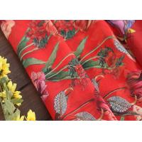 Buy cheap Fusible Cotton Printed Silk Fabric Voile Type With Flowers Decoration from Wholesalers