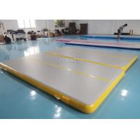 China Inflatable Air Track Inflatable Gym Mat 4x2x0.2m Physical Exercise Air Tumble Track Gymnastics Training Use factory