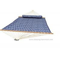 Buy cheap blue printed double size polyester quilted sleeping hammock super comfort from wholesalers