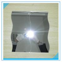 China Bevelled Edge Arch Oval 6mm Processed Mirror Glass Sinoy , Flat Bathroom Mirror factory
