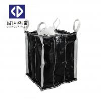 China Black Laminated PP Big Bags Inner Partition For Chemical Powder / Mineral / Sand on sale