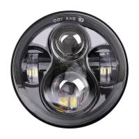 Quality Black Automobile Led Headlights , Harley Davidson Led Motorcycle Headlight for sale