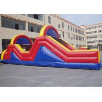 China Indoor / Outside Inflatable Obstacle Course Training Course Equipment factory