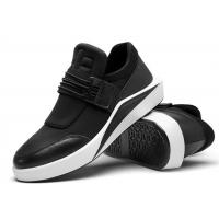 Upper Leather Toe Comfortable Casual Shoes With Elastic Band Anti Sliding