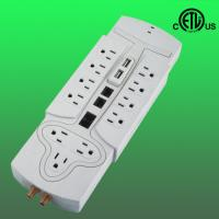 China 3000J, 12 outlet Ethernet phone fax coaxial usb surge protector, 125V factory
