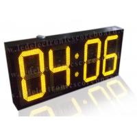 China 20 Inch Yellow Color Commercial Digital Clock , Led Display Clock 88 / 88 Format factory