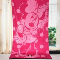 Buy cheap Plain Woven Jacquard Beach Towel Minnie Mickey Mouse Reactive Printed from Wholesalers