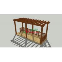 Buy cheap Prefabricated Beautiful Wood Plastic Composite Pergola 6m X 2.5m UV Resistance from Wholesalers