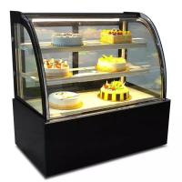China Green & Health Commercial Cake Display Cooler With Front Or Back Sliding Door on sale